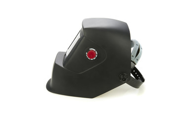 Welder mask on white background