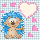 Fototapety Hedgehog with heart frame
