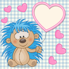 Hedgehog with heart frame