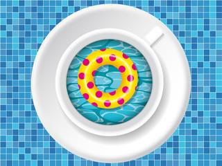tasse piscine bouée