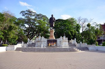 Monument King Rama in thai public park at Nonthaburi Thailand