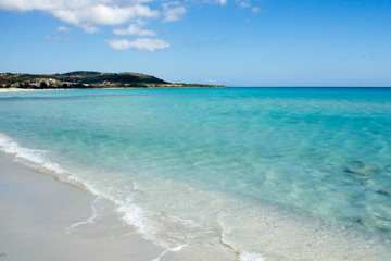 Beach and sea of Sardinia