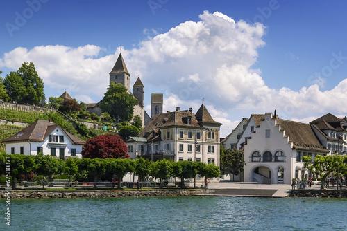 Leinwanddruck Bild Rapperswil, Switzerland