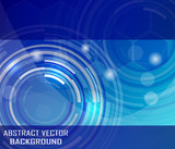 Fototapety Abstract vector background with circular elements