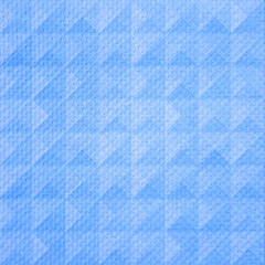 Blue triangle pattern tissue