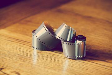 unwound camera film