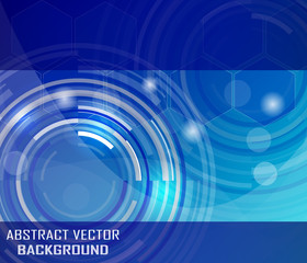 Abstract vector background with circular elements