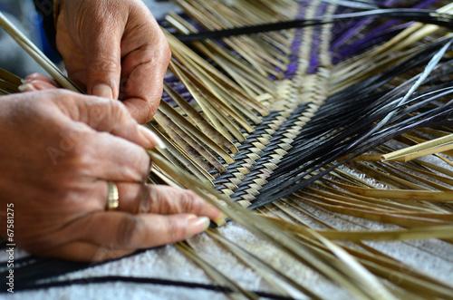 Maori woven artwork - 67581275