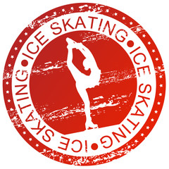Sports stamp - Ice skating