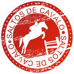 Carimbo desportivo - Saltos de cavalo