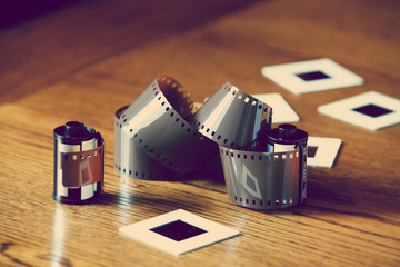 photo film and slides