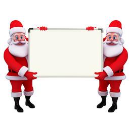 Santa Claus With display board