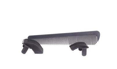Black comb for hair.