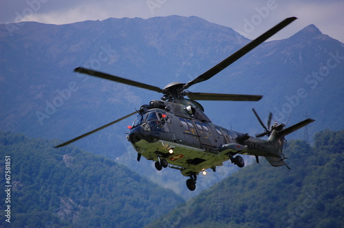 Foto op Canvas Helicopter Super Puma 3
