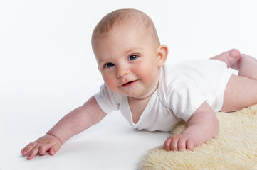Smiling Baby Crawling