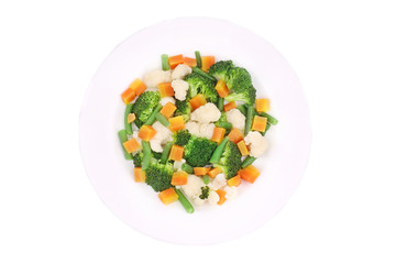 Salad with broccoli.