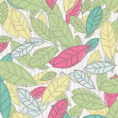 background with colored leaves