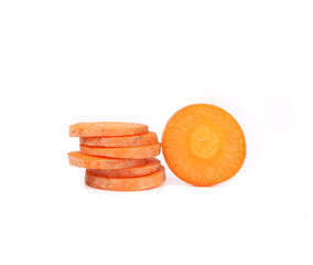 Carrot slice isolated on white.