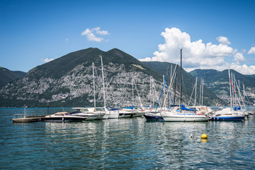 sailboats at Iseo lake