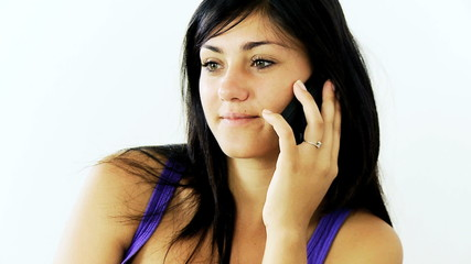 Young woman happy on the phone