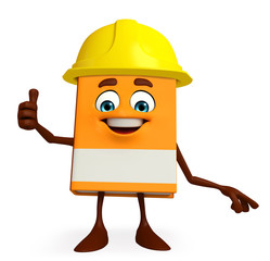 Book Character with worker hat
