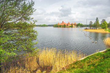 Medieval old castle in Trakai, Lithuania
