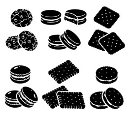 Cookies set. Vector