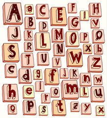 Font vector illustration.