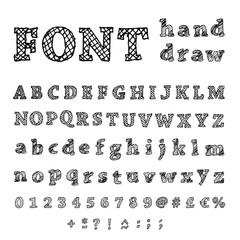 Font, Hand drawn illustration.