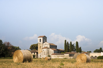 Typical Tuscany Romanesque church