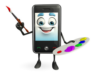 Mobile character with Color plate