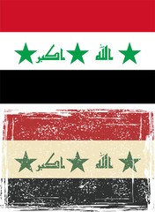 Iraq grunge flag. Vector illustration