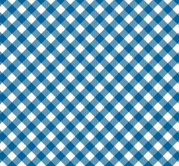 Tischdeckenmuster mit diagonalen Streifen in blau