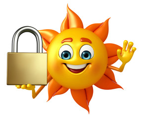 Sun Character With lock