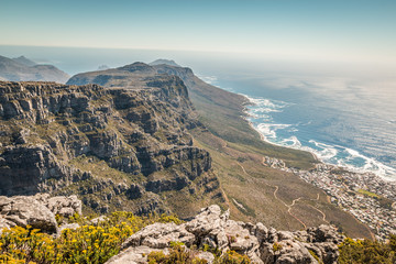 Twelve apostles in Table Mount in Cape Town South Africa