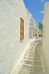 road in mykonos island