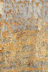Corroded metal plate