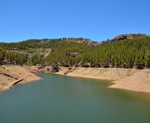 Water reservoir in summit of Gran Canaria