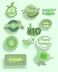 Eco friendly icon set.