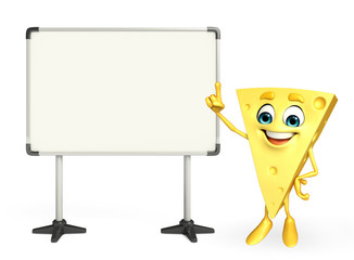 Cheese Character with display board