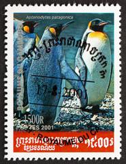 Postage stamp Cambodia 2001 King Penguin