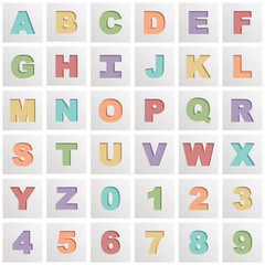 square alphabet icons