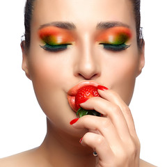 Colorful Makeup. Strawberry