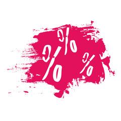percent sign grunge