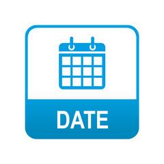 Etiqueta tipo app azul DATE