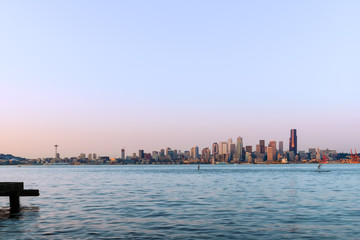Seattle Cityscape At Dusk