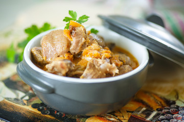 chicken gizzards stewed with vegetables