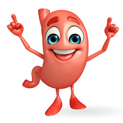 Cartoon Character of stomach with dance pose