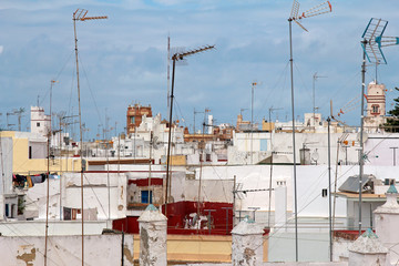 skyline of Cadiz, Andalusia, Spain