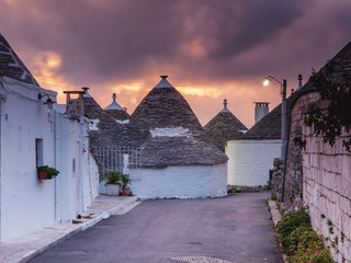 Alberobello town in Italy